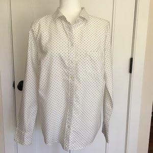 J. crew Oxford Boy Shirt in Polka Dot size 10
